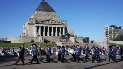 ANZAC Day Parade to the Shrine 25th April